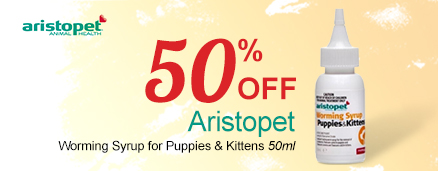 Aristopet Worming Syrup for Puppies & Kittens